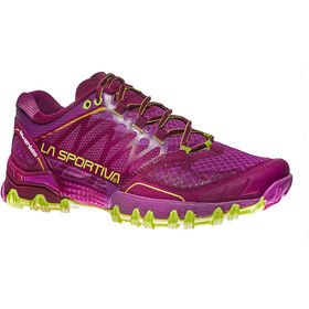 La Sportiva Bushido Shoes Women Plum/Apple Green
